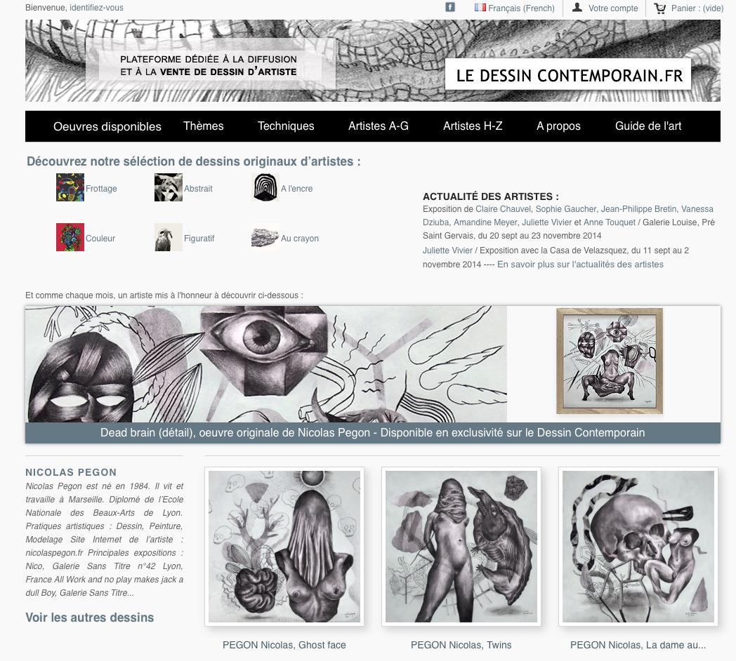 Dessin en Vente sur «Le dessin contemporain.fr»